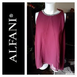 Alfani bead clasic top.